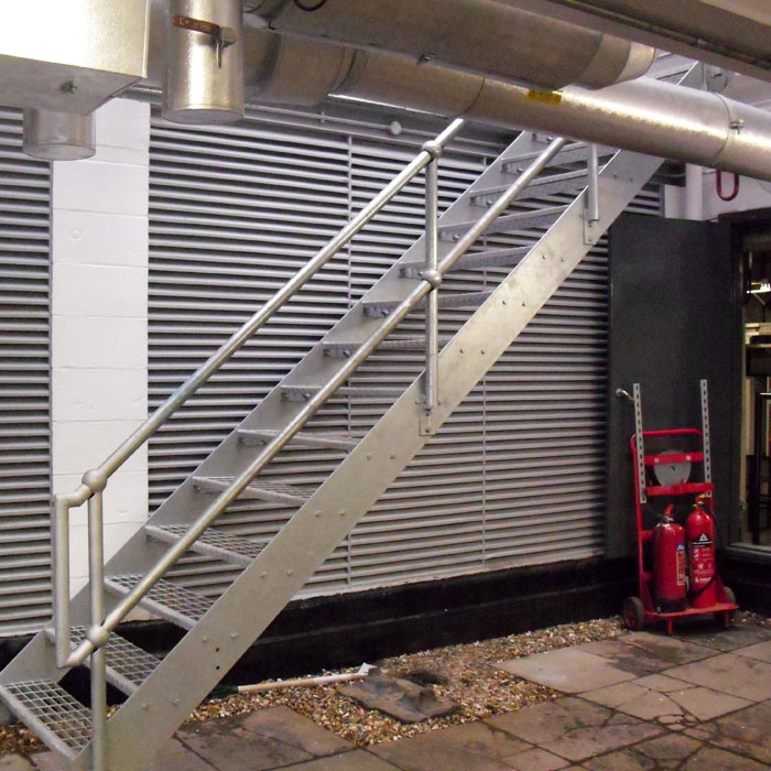 A Galvanised Steel Fire Escape