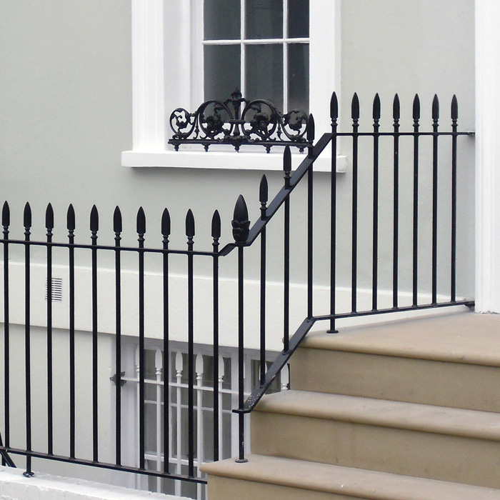 Traditional Style Iron Railings